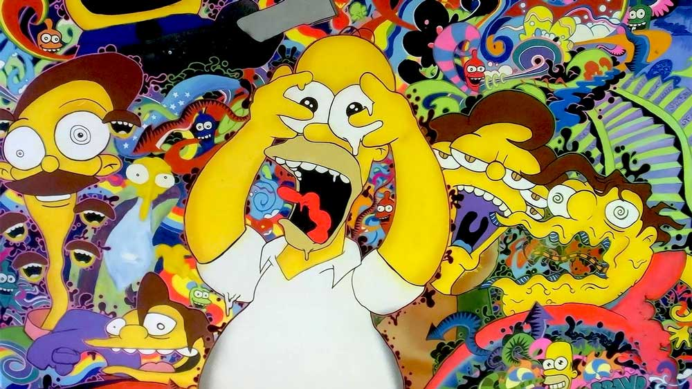 Bad trip with a psychedelic drug from Simpsons
