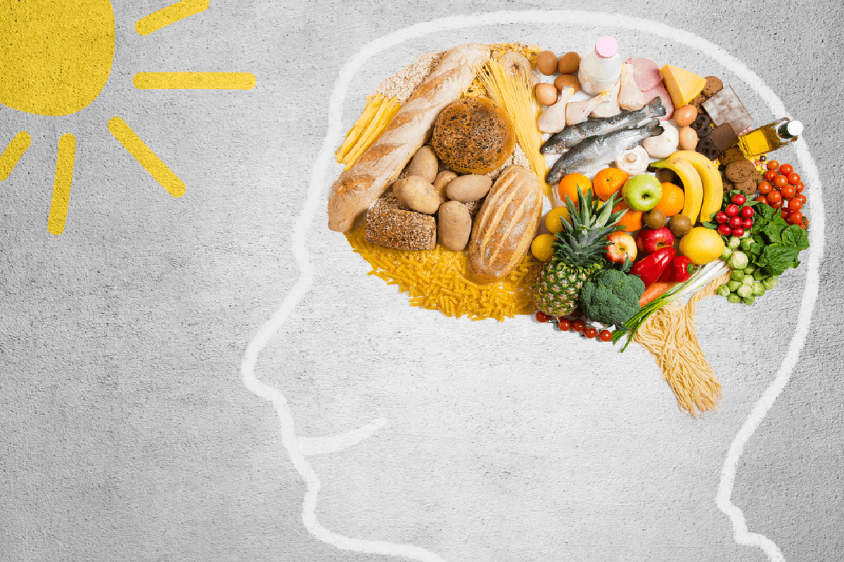 nutrients in food influence happiness through serotonin in brain